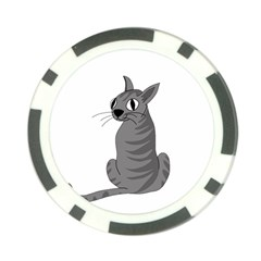 Gray Cat Poker Chip Card Guards (10 Pack)  by Valentinaart