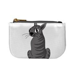 Gray Cat Mini Coin Purses by Valentinaart