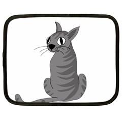 Gray Cat Netbook Case (xxl)