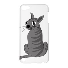 Gray Cat Apple Ipod Touch 5 Hardshell Case by Valentinaart