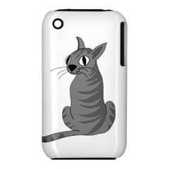 Gray Cat Iphone 3s/3gs by Valentinaart