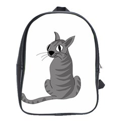 Gray Cat School Bags (xl)  by Valentinaart