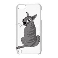 Gray Cat Apple Ipod Touch 5 Hardshell Case With Stand by Valentinaart