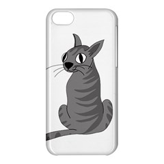 Gray Cat Apple Iphone 5c Hardshell Case by Valentinaart
