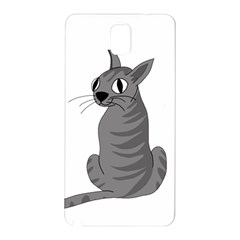 Gray Cat Samsung Galaxy Note 3 N9005 Hardshell Back Case by Valentinaart