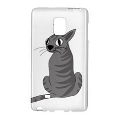 Gray Cat Galaxy Note Edge by Valentinaart