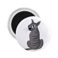 Gray Cat 2 25  Magnets by Valentinaart