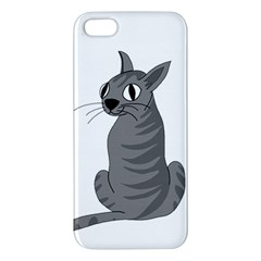Gray Cat Iphone 5s/ Se Premium Hardshell Case by Valentinaart