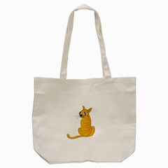 Yellow Cat Tote Bag (cream) by Valentinaart