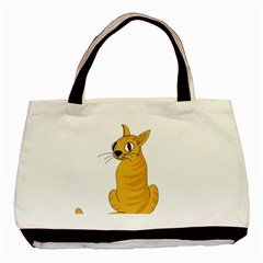Yellow Cat Basic Tote Bag by Valentinaart