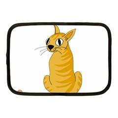 Yellow Cat Netbook Case (medium)  by Valentinaart