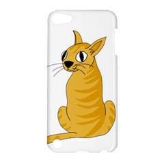 Yellow Cat Apple Ipod Touch 5 Hardshell Case by Valentinaart