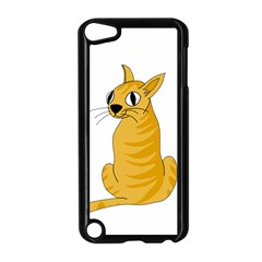 Yellow Cat Apple Ipod Touch 5 Case (black) by Valentinaart