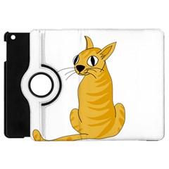 Yellow Cat Apple Ipad Mini Flip 360 Case by Valentinaart