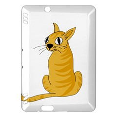Yellow Cat Kindle Fire Hdx Hardshell Case by Valentinaart