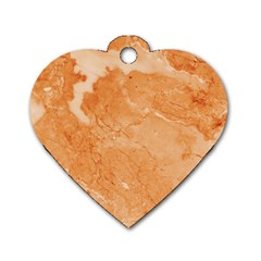 Rose Gold Marble Stone Print Dog Tag Heart (two Sides) by Dushan