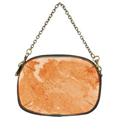 Rose Gold Marble Stone Print Chain Purses (two Sides)  by Dushan