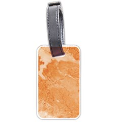 Rose Gold Marble Stone Print Luggage Tags (one Side)  by Dushan