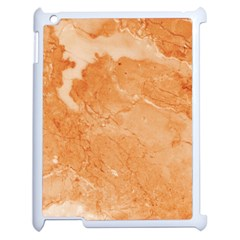 Rose Gold Marble Stone Print Apple Ipad 2 Case (white) by Dushan