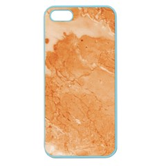 Rose Gold Marble Stone Print Apple Seamless Iphone 5 Case (color) by Dushan