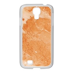 Rose Gold Marble Stone Print Samsung Galaxy S4 I9500/ I9505 Case (white) by Dushan