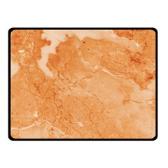 Rose Gold Marble Stone Print Double Sided Fleece Blanket (small)  by Dushan