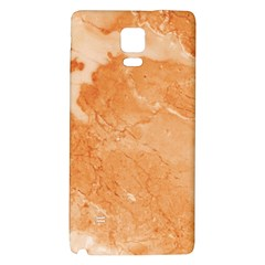 Rose Gold Marble Stone Print Galaxy Note 4 Back Case by Dushan