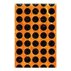 Circles1 Black Marble & Orange Marble (r) Shower Curtain 48  X 72  (small) by trendistuff