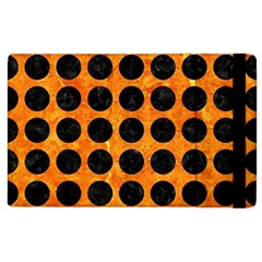 Circles1 Black Marble & Orange Marble (r) Apple Ipad 2 Flip Case by trendistuff
