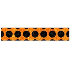 Circles1 Black Marble & Orange Marble (r) Flano Scarf (large) by trendistuff
