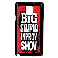 Big Stupid Profile Samsung Galaxy Note 4 Case (Black) by AnjaniArt