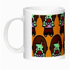 Zombie Woman Fill Orange Night Luminous Mugs by AnjaniArt