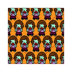 Zombie Woman Fill Orange Acrylic Tangram Puzzle (6  X 6 ) by AnjaniArt
