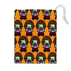 Zombie Woman Fill Orange Drawstring Pouches (extra Large) by AnjaniArt