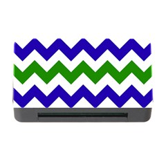 Blue And Green Chevron Memory Card Reader With Cf by AnjaniArt