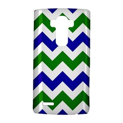 Blue And Green Chevron Lg G4 Hardshell Case by AnjaniArt