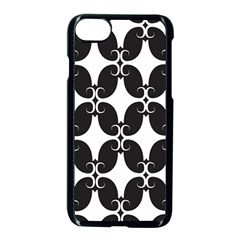 Black Flower Accents Apple Iphone 7 Seamless Case (black) by AnjaniArt