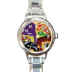 Animals Round Italian Charm Watch