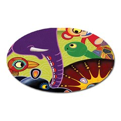 Animals Oval Magnet by AnjaniArt