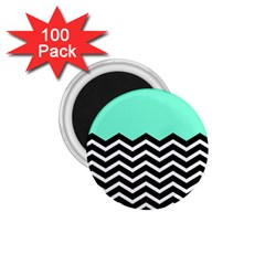 Blue Chevron 1 75  Magnets (100 Pack)  by AnjaniArt
