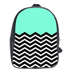 Blue Chevron School Bags(large)  by AnjaniArt