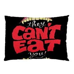 Cant Eat Pillow Case (two Sides) by AnjaniArt