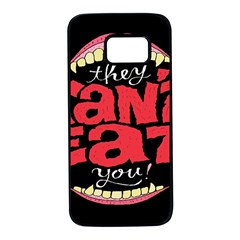 Cant Eat Samsung Galaxy S7 Black Seamless Case by AnjaniArt