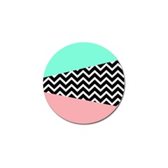 Chevron Green Black Pink Golf Ball Marker (4 Pack) by AnjaniArt