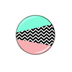 Chevron Green Black Pink Hat Clip Ball Marker (10 Pack) by AnjaniArt