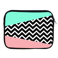 Chevron Green Black Pink Apple Ipad 2/3/4 Zipper Cases by AnjaniArt