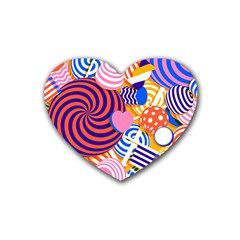 Canddy Color Rubber Coaster (heart)  by AnjaniArt