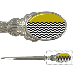 Colorblock Chevron Pattern Mustard Letter Openers by AnjaniArt