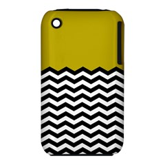 Colorblock Chevron Pattern Mustard Iphone 3s/3gs by AnjaniArt