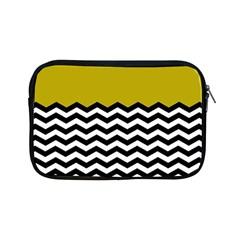 Colorblock Chevron Pattern Mustard Apple Ipad Mini Zipper Cases by AnjaniArt